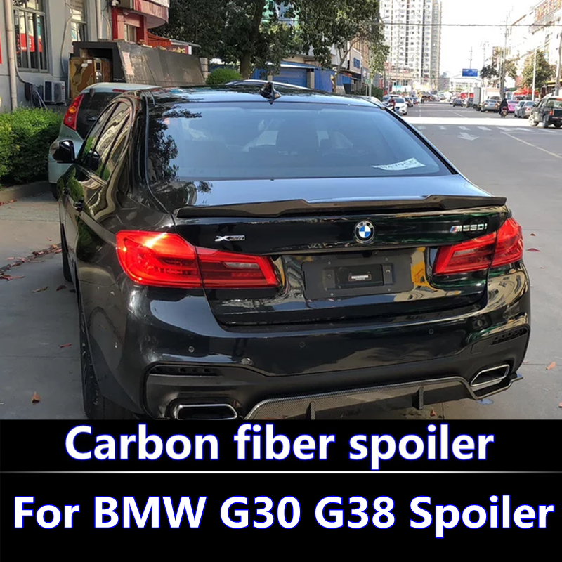 US $65 66 33% OFF|For 2018 BMW G30 G38 Spoiler high quality M5 Carbon Fiber  Material P Performance Style Spoiler For BMW 5 Series G30 G38 Spoiler-in