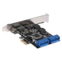 USB 3.0 PCIE PCI Express carte de contrôle adaptateur bureau avant PCIe transfert USB3.0 19PIN Interface adaptateur carte