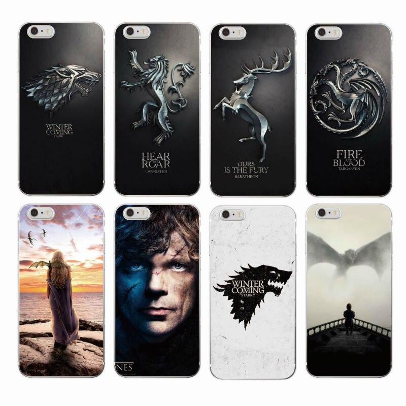 Game Thrones Daenerys Dragon Jon Snow tyrion lannister Soft Phone Case Fundas For iPhone 11 Pro 7 7plus 6 6Plus 8 8Plus X XS Max(China)