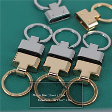 Handmade leather DIY keychain accessories hook K gold quality Leather Key