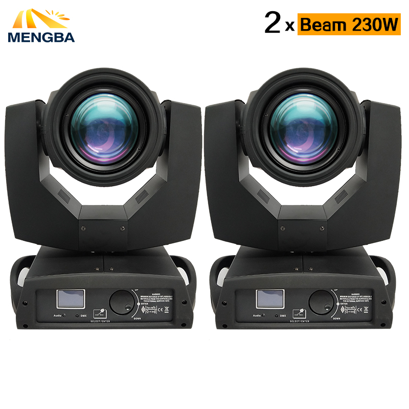 MengBa 2pcs/lot Moving Head Light Beam 230w Beam 7R Disco Lights for DJ Club Nightclub Party dj light Wedding light 7r 230w цена 2017