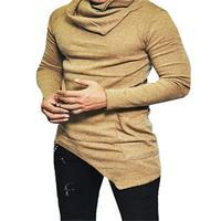 2017 Fashion Hoodies Men Sudaderas Hombre Hip Hop Mens Brand Solid Hooded Hoodie Cardigan Sweatshirt Slim