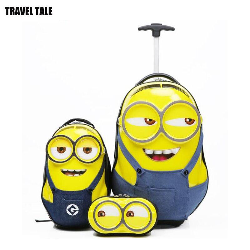 Juego de maleta de viaje para niños pequeños con mochila para niños-in Equipaje de ruedas from Maletas y bolsas    1