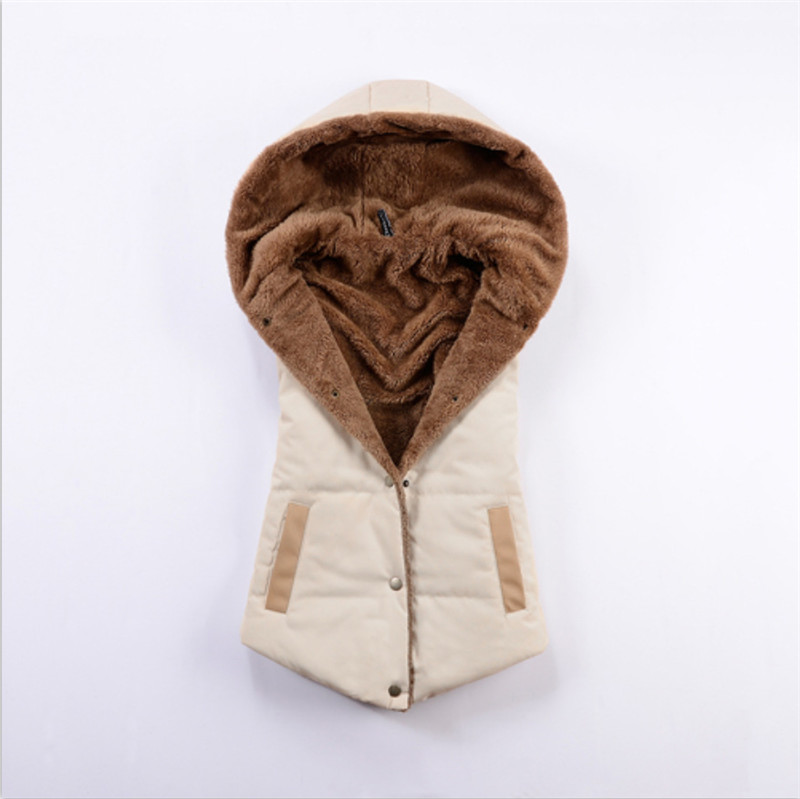 Hooded vest,outerwear&coats Veste femme,solid Color Wild Women vest,casual Single Breasted vest,colete feminino,overcoat TT1128