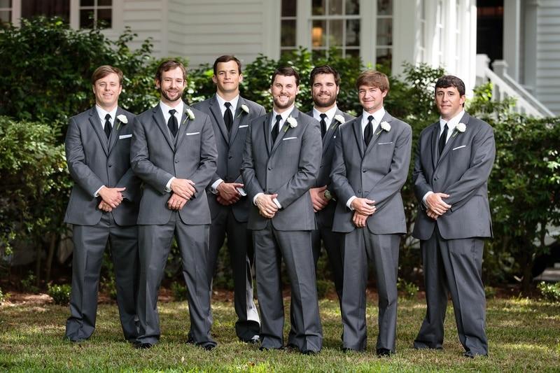 2017 Latest Coat Pant Designs Grey Men Suit Groomsmen Blazer Slim Fit Skinny Tuxedo Custom Wedding Suits 3 Piece Terno Masculino
