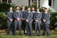 Latest Coat Pant Designs Grey Men Suit Formal Slim Fit Skinny Groomsmen Tuxedo Custom Best Man