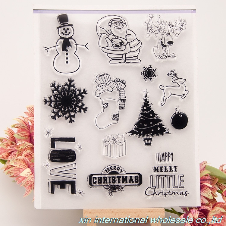 2PCS scrapbook DIY embossing folders christmas stamps ACRYLIC VINTAGE clear stamps FOR PHOTO SCRAPBOOKING stamp stempels bird big size scrapbook diy farm sellos carimbo acrylic clear stamps for photo timbri scrapbooking stamp