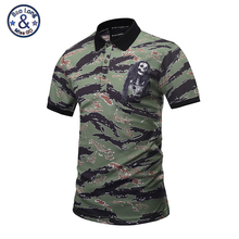 Mr.BaoLong Brand new Polo Shirt Men summer style 2017 Skull logo Army Camouflage Polo shirt tops male M-3XL PT5