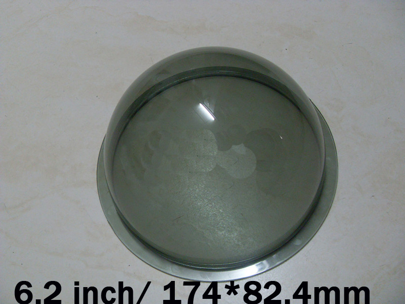 174x82.4mm 6.2 inch Gray black Color Acrylic Plexiglass Outdoor PTZ ip Camera Half ball Dome Housing Cover Antidust Cover spacetechnology st 174 ip home
