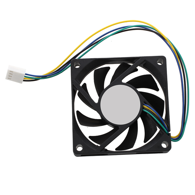 hot-70x70x15mm 12V 4 Pins PWM PC Computer Case CPU Cooler Cooling Fan Black