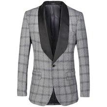 e4228dce646e0 OFERTA ESPECIAL marca hombres chaqueta 2018 hombres traje blazer Slim Fit  lujo marca diseñador Mens Traje