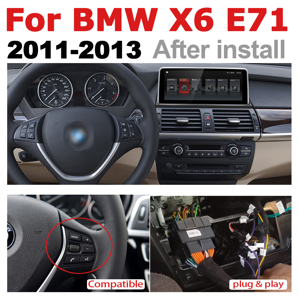 Car Radio 2 din GPS Android Navigation ForBMW X6 E71 2011-2013 cic  AUX Stereo multimedia touch screen original style2