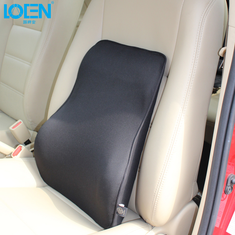 High Quality Comfortable Bamboo Charcoal Memory Foam Car Seat Lumbar Support Black Wait Rest Pillow For Office Home Chair 1PCS