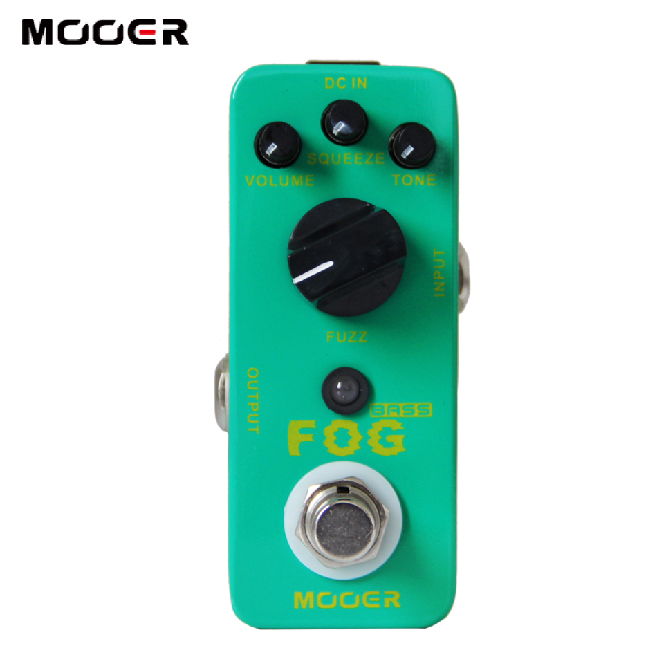 NEW Effect Pedal/MOOER Fog Bass Fuzz Pedal/Full metal shell True bypass mooer grey faze vintage fuzz guitar pedal fuzz distortion guitar effect pedal full metal shell true bypass free shipping