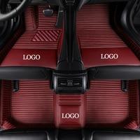 NEW Custom Car Floor Mats for Citroen all models C4 Aircross C4 PICASSO C5 C6 C2 C Elysee C Triomphe C4 auto accessories