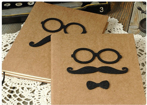 все цены на US $2 off per US $12 New Vintage MR.Mustache series Kraft Paper notebook with blank inner page /DIY Journal Notepads/agenda онлайн