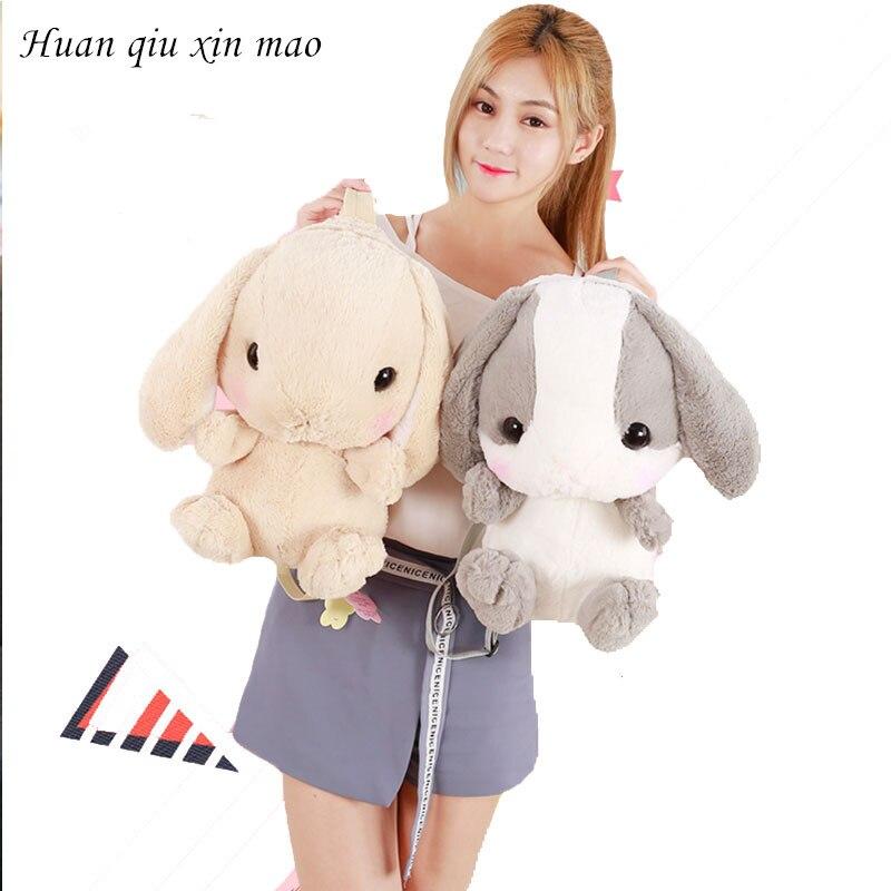 Babbit sac à dos en peluche mignon japonais en peluche lapin sac à dos en peluche lapin enfants jouet filles sac d'école cadeau pour petite fille