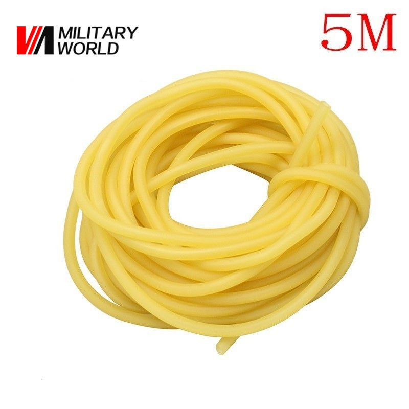5M Sporing Natural Latex Tube Slingshot 3mmx5mm Yellow Color Replacement Band for Hunting Sling Shot Catapults Sling Rubber цены