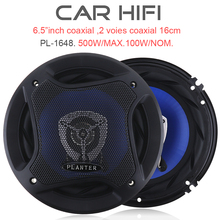 PL-1648 2pcs 6.5 Inch 500W Car HiFi Coaxial Speaker Vehicle