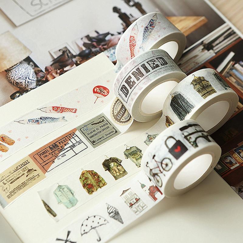 Vintage Post Collage Washi Tape Diy Decoration Scrapbooking Planner Masking Tape Adhesive Tape Label