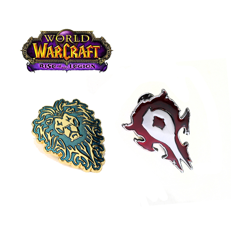 World of Warcraft Tribal Mark Broches Alliance Horde WOW Badge Broche Film Game Serie Emaille Pin Jurk Shirt Accessoires