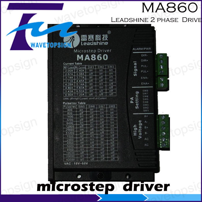 ФОТО Leadshine MA860 2 phase microstepping Drive work 24V-80 VDC out1.8A to 7.2A stepper Motor driver