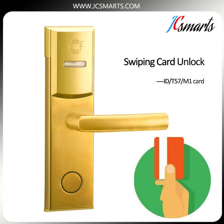 High security Electronic RFID keyless door lock Hotel lock for apartment office electronic rfid card door lock with key electric lock for home hotel apartment office latch with deadbolt lk520sg