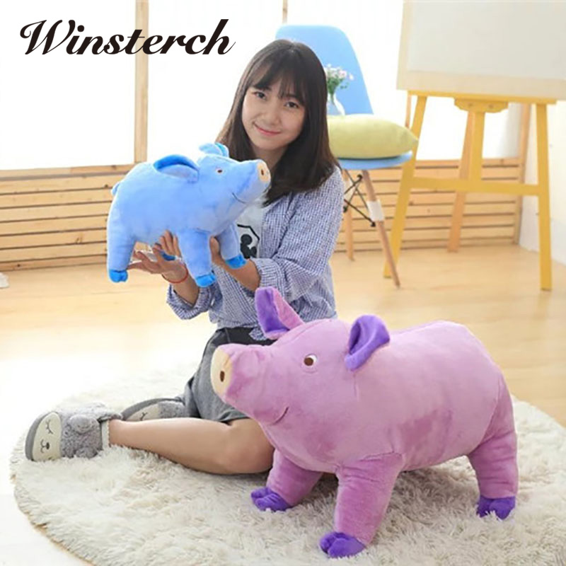 High Quality Simulation Lovely Pig Stuffed Animal Soft Plush Cute Toys Doll Kids Gift Pillow Plush Dolls toy stuffing WW107