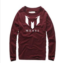 Fashion Barcelona MESSI Printed Tide Men T-Shirt Man Streetwear long Sleeve O-Neck Creative T Shirts Plus Size Hip Hop Tops