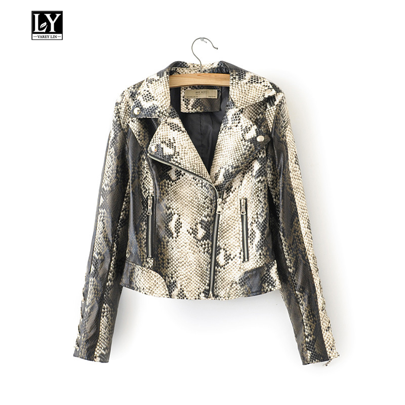 Ly Varey Lin Spring Women Faux Soft   Leather   Pu Motorcycle Jacket Coat Female Bandage Sleeve Black Punk Overcoat   Leather   Jacket
