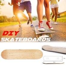 8 дюймов 8-Слои клен заготовка для скейтборда палубе скейт Boarddouble вогнутой Kick стойки скейтборд грубой наждачной бумаги на Лонгборд DIY