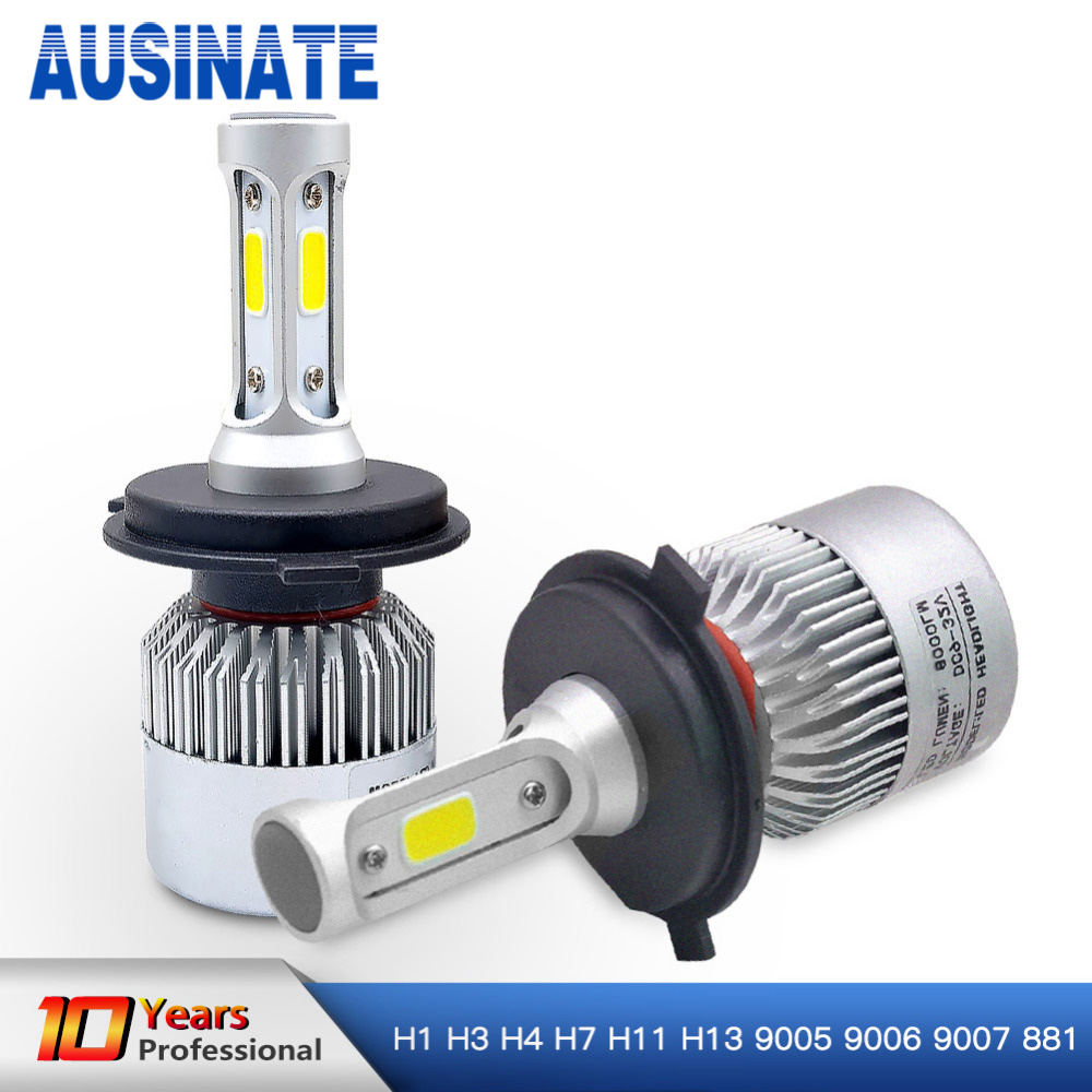 Led H7 H4 H1 H3 H8 H9 H11 H13 9005 9006 HB4 9007 881 LED Headlights 6500K 72W 8000LM Automobiles Part Lamp Bulb Auto Car Light  цены