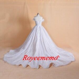 Image 2 - 2019 تصميم جديد بريق الدانتيل فستان الزفاف خاص أعلى ثوب زفاف صورة حقيقية مصنع صنع سعر الجملة فستان الزفاف