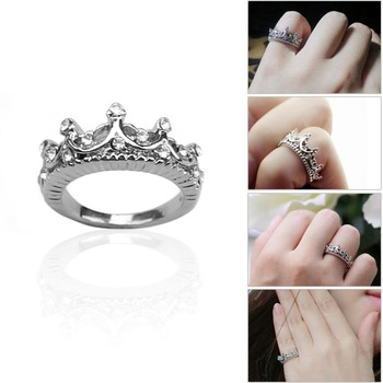 Princess Crown Ring New US Size 5 6 7 8 1