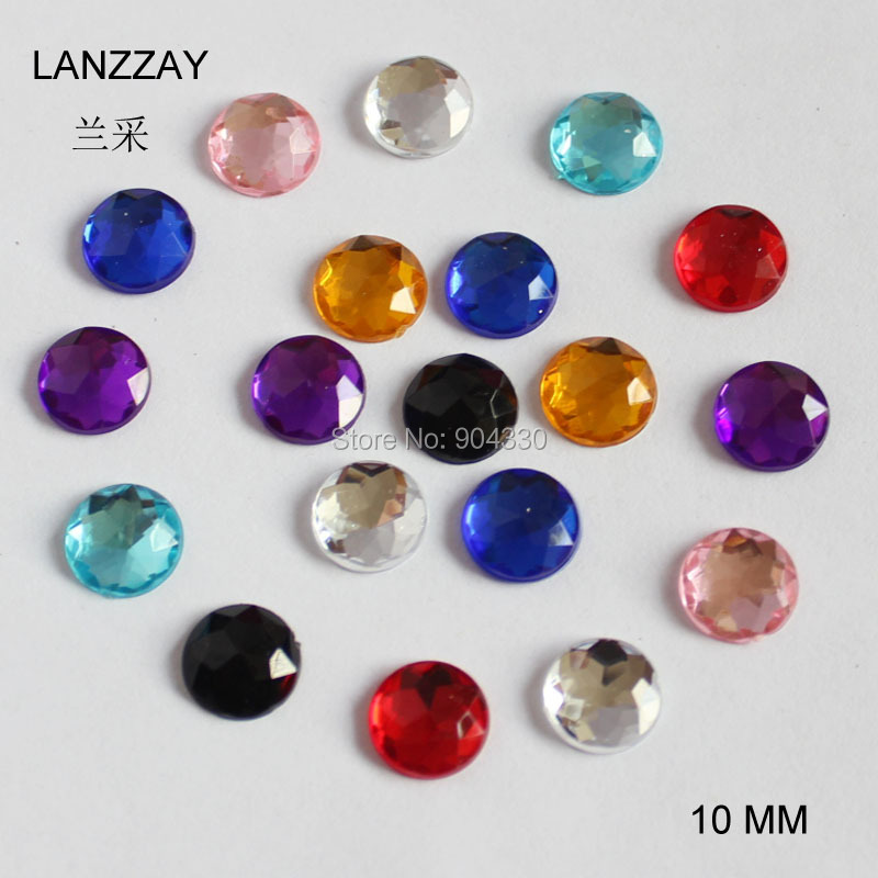 Apparel Sewing & Fabric Free Shipping 200pcs Clear 12mm Octangle Double Holes Pointed Back Acrylic Diamond Apparel Sewing Buttons Crafts Diy Rhinestone Home & Garden