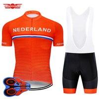 Crossrider 2020 equipe nederland camisa de ciclismo mtb roupas da bicicleta dos homens conjunto curto ropa ciclismo roupas wear maillot culotte Kits ciclismo     -