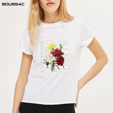 Flower plant Ladies Letter Printed Graphic T-shirts For Women Tops Tees cartoon cute tee Shirt Female T-Shirts vintage