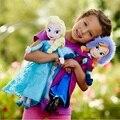2 unids/lote 40 CM y 50 cm Princesa Juguetes de Peluche Nueva Princesa Elsa Anna Muñeca de la Felpa Juguete de peluche 2 tamaños para la elección de