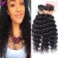 8A Brazilian Virgin Hair Deep Wave 4 Bundles Brazilian Deep Curly Weave Human Hair Extension Brazilian Deep Wave Brazilian Hair