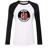 CHẾT KENNEDYS Punk Rock Raglan Dài T Áo Sơ Mi Nữ Fairy Tail Biểu Tượng của guild Girl Tshirt DC Comics Batman Nightwing Tee Tops Lady