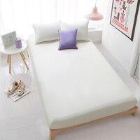 Lenzuolo e federa 100% cotone lenzuolo con elastico biancheria da letto lenzuolo di cotone copriletto blu grigio beige 19 colori