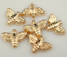 Hot 100pcs Vintage Gold Beautiful Bee Charm Floating Pendant Glass Memory Locket For Bracelet Necklace Fashion Jewelry S123