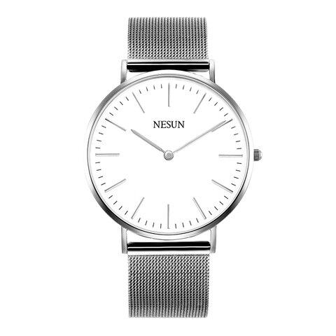 Marca de Luxo Safira à Prova Suíça Nesun Relógio Masculino Feminino Japão Miyota Quartzo Movimento Amante Relógios Dclock Água N8801-w3 & Mod. 128982
