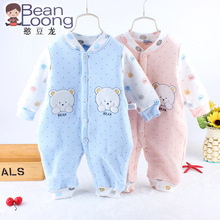 Baby clothing high quality wadded thermal cotton bebe jumpsuit romper infant clothes newborn baby boy and