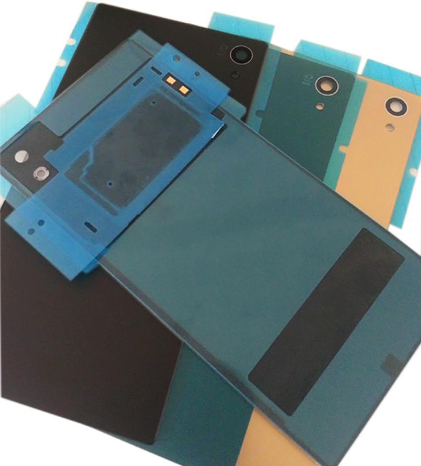 Matte For Sony Xperia Z5 Back Battery Cover Door Housing Rear Back Glass Cover +NFC Waterproof Sticker E6603 E6633 E6653 E6683