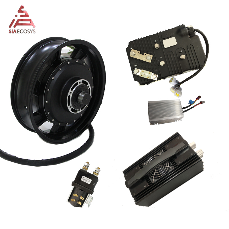 QS Motor 17inch 14kw Water Cooling 160kph Electric Scooter Motor Kits For 160kph