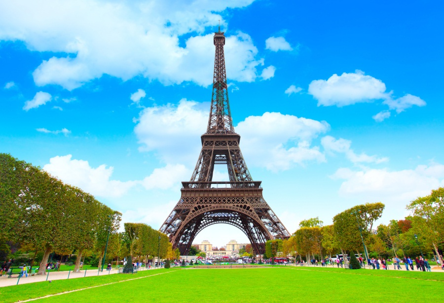 Laeacco Vinyl Background For Photography Eiffel Tower ...