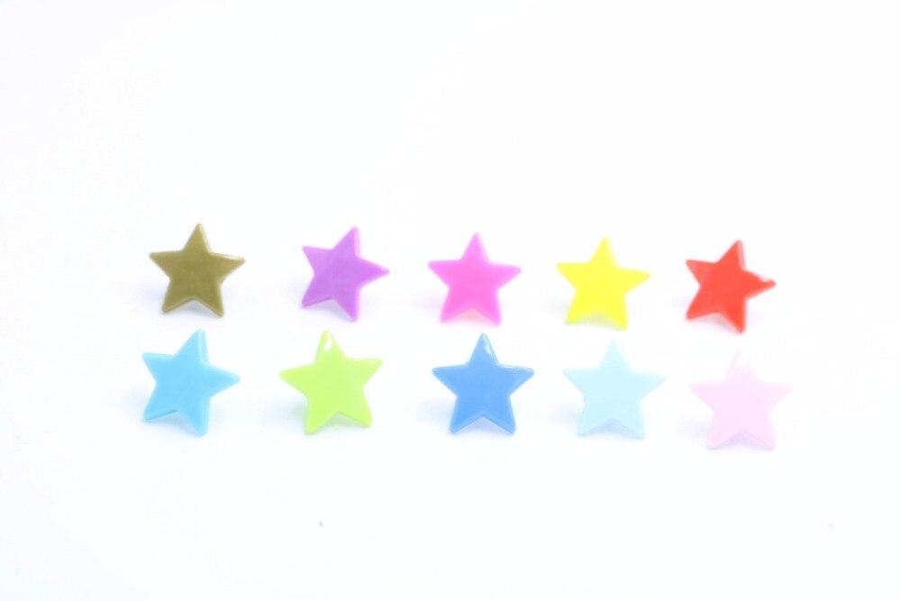 e5b1ab2159ce0 200 Sets diez color mezclado de alta calidad T5 plástico en forma de  estrella Snap botón sujetador Botones para pañal del bebé