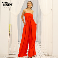 Yesexy 2019 Women New Summer Sexy Slash Neck Off Shoulder Backless Rompers Elegant Solid Color Women Jumpsuit VR18843