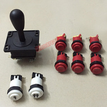 HAPP style Joystick and 8 pcs push buttons for Arcade DIY kit Multicade MAME Jamma game